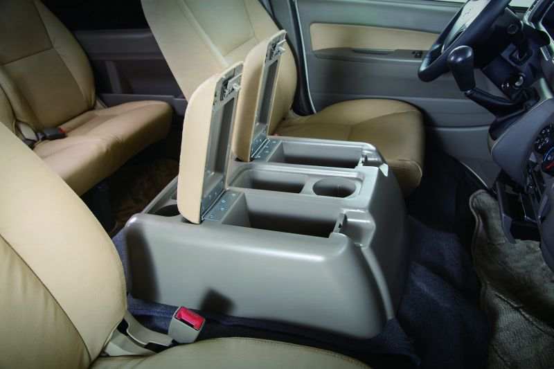 Middle console box with 3 cup holders.
