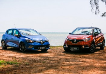 Renault Clio GT Line (left) and Captur