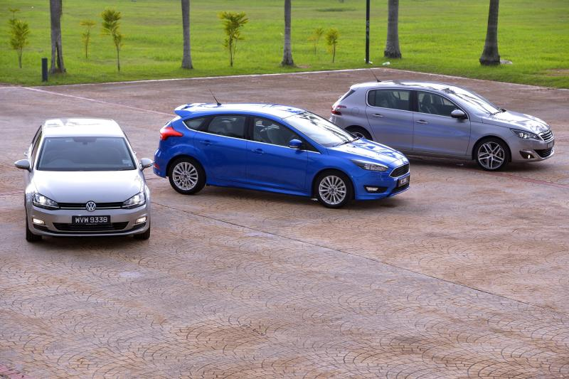 Volkswagen Golf 1.4 TSI Highline-Ford Focus Sport+-Peugeot 308 THP - 02
