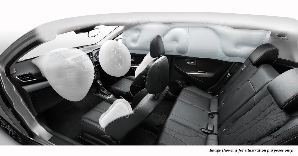 6 airbags on Myvi 1.5-litre variants.