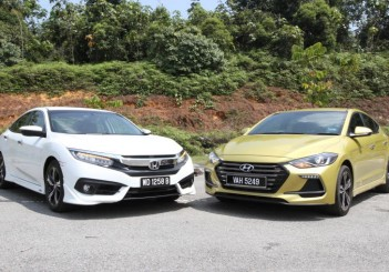 Honda Civic 1.5TC-P and Hyundai ELantra Sport 1.6 - 01