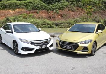Honda Civic 1.5TC-P and Hyundai ELantra Sport 1.6 - 02