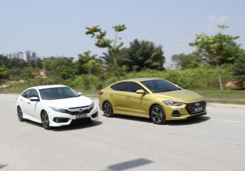 Honda Civic 1.5TC-P and Hyundai ELantra Sport 1.6 - 05