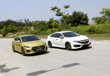 Hyundai Elantra Sport 1.6 and Honda Civic 1.5TC-P - 01