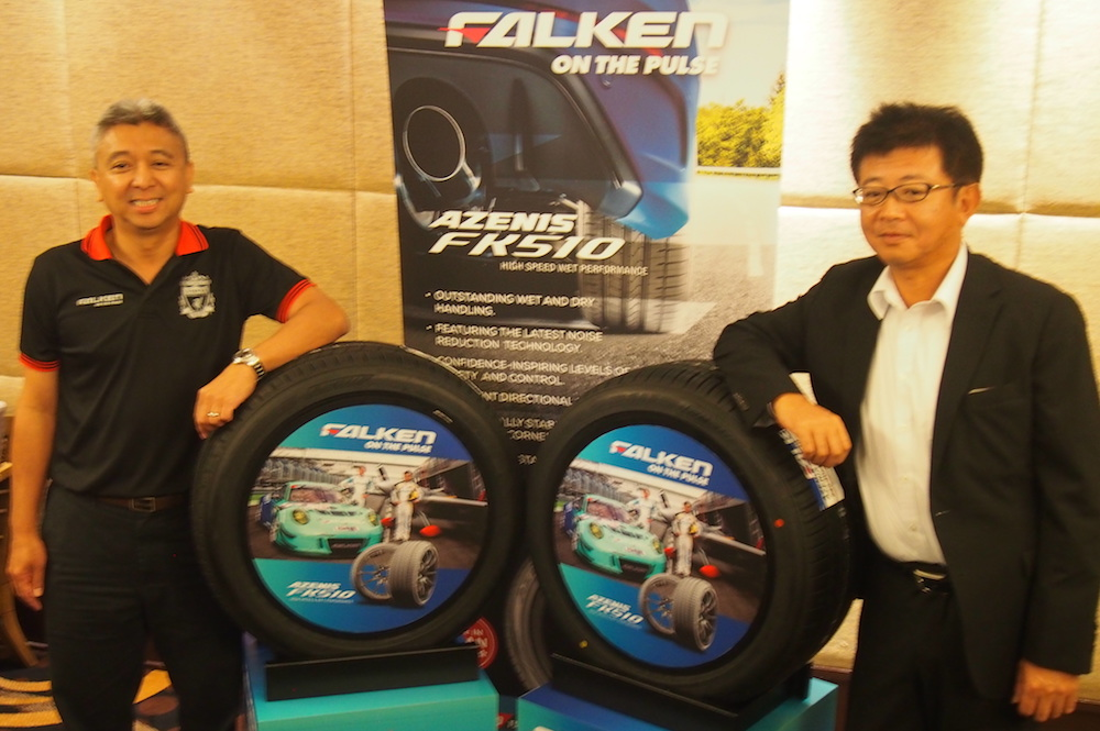 Cham (left) and Ushida posing with the FK510 in a Shah Alam hotel today.