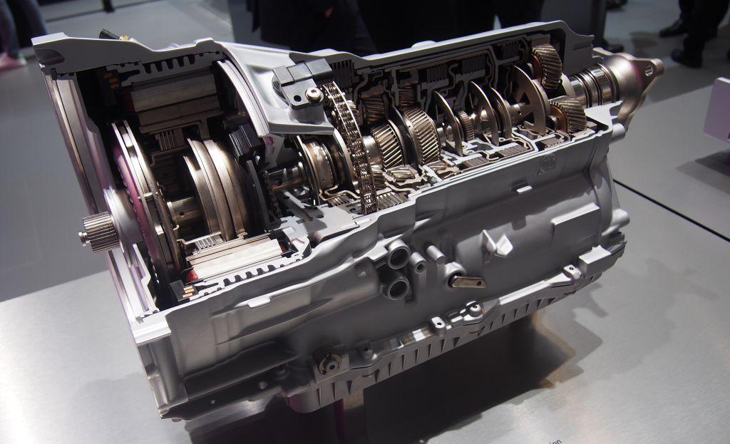 An 8-speed plug-in hybrid transmission.