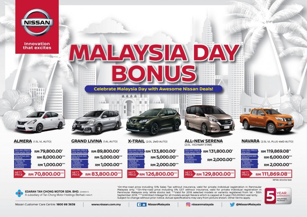 Nissan Malaysia Day Bonus Campaign