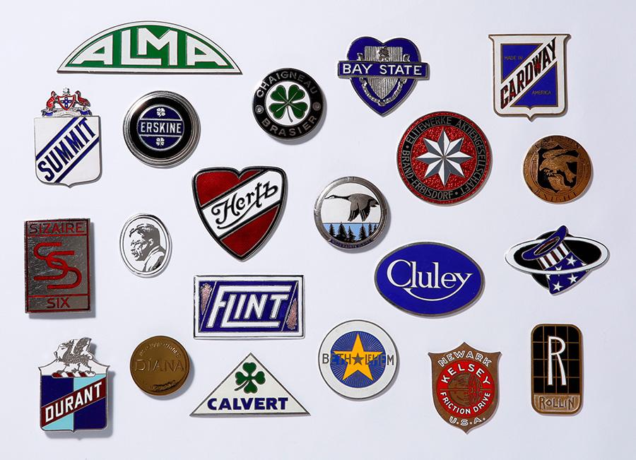 Car badges.