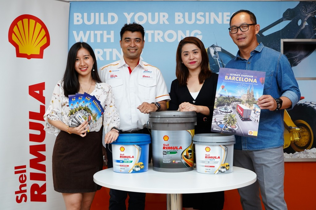 (From left) Shell Lubricants B2B Associate Brand Manager Amanda Woo, Shell Rimula and Spirax Brand Manager Ravi Shankar, Shell Lubricants General Manager - Marketing May Tan and Shell Lubricants Sales Director Leong Tak Chuan.