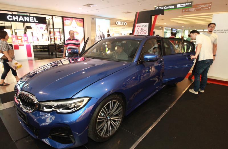The BMW 330i M SPort at the CarSifu Auto Show.