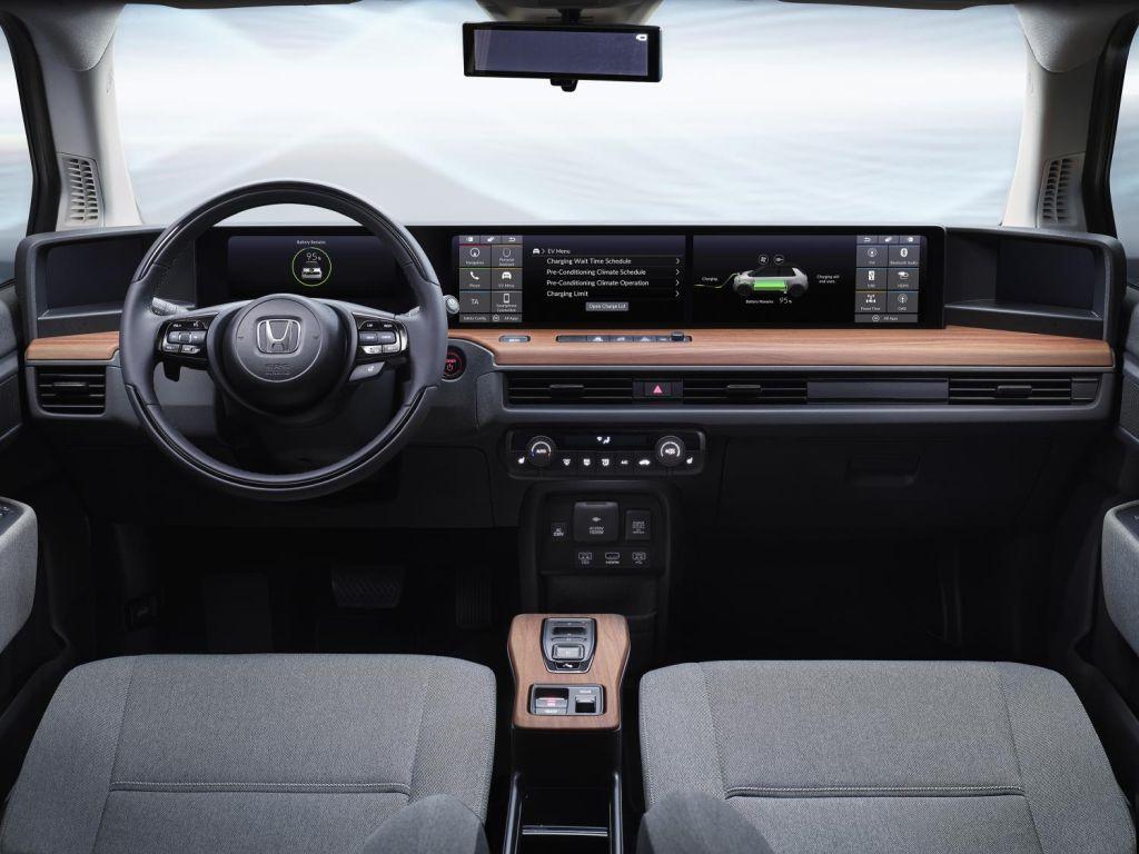 The Honda e prototype interior