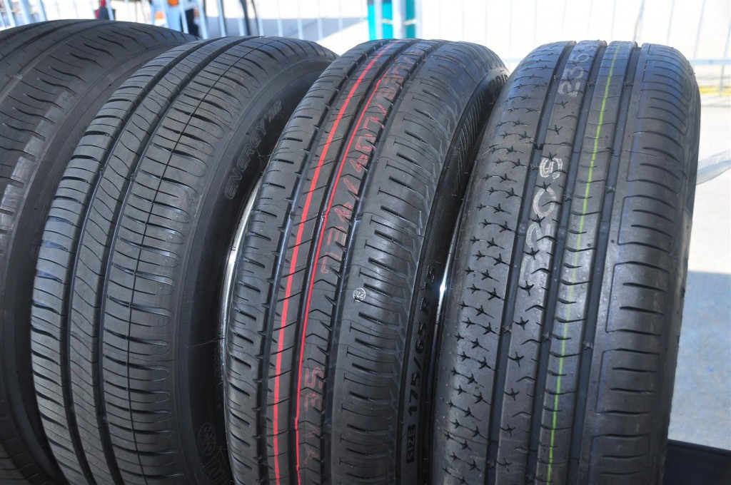 Michelin Energy XM2+ - 15 (left) with Japanese and German competitor tyres