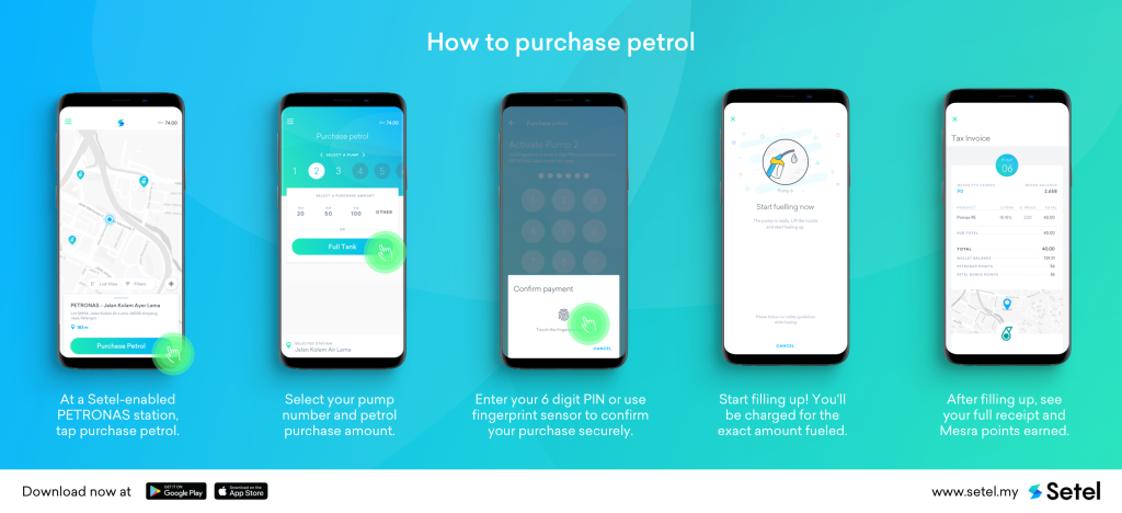 Setel - How to pay for petrol