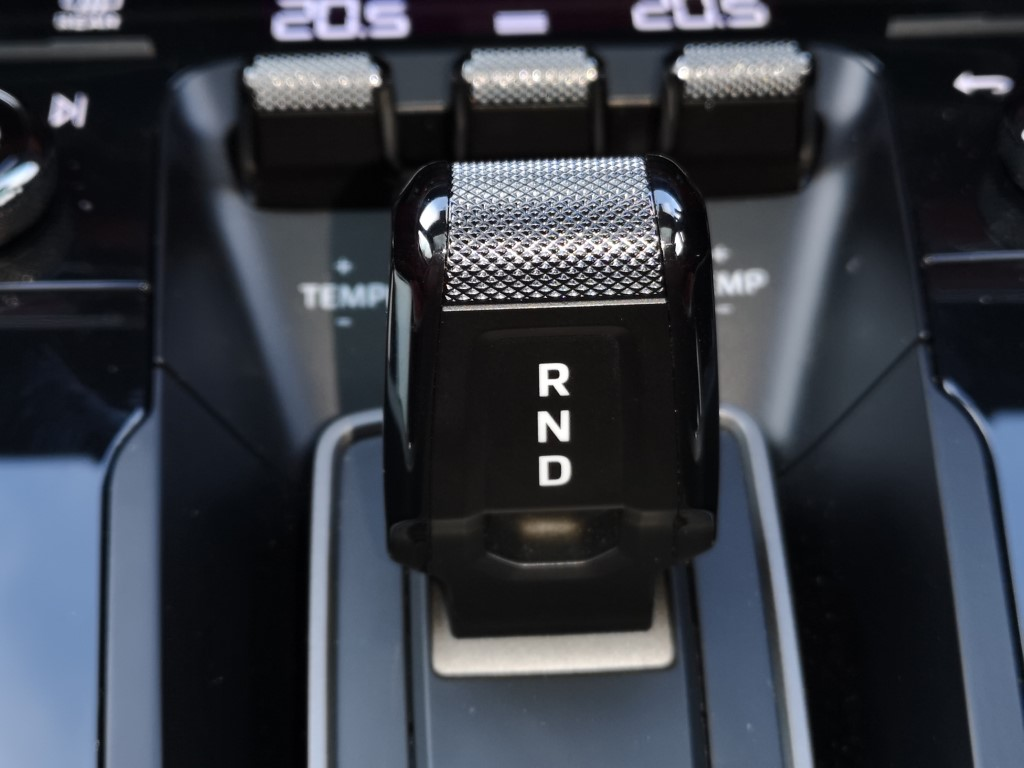 The gearshifter is a stub.