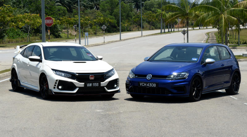 Honda Civic Type R and Volkswagen Golf R shootout - 01