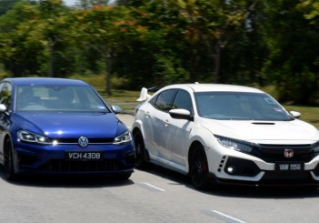 Honda Civic Type R and Volkswagen Golf R shootout - 03