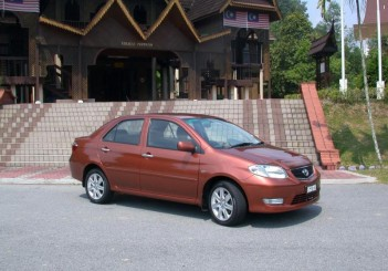 The 2003 first-generation Toyota Vios.