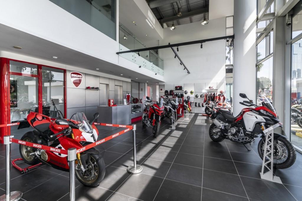 Ducati Malaysia flagship store Showroom area