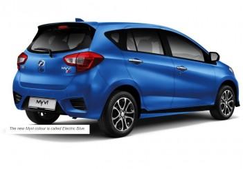 Perodua Myvi AV blue rear