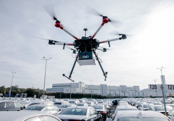 Audi uses drones to locate vehicles at Neckarsulm site