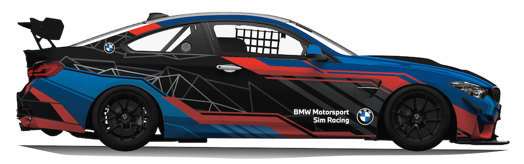 BMW M4 GT4 Right Side View