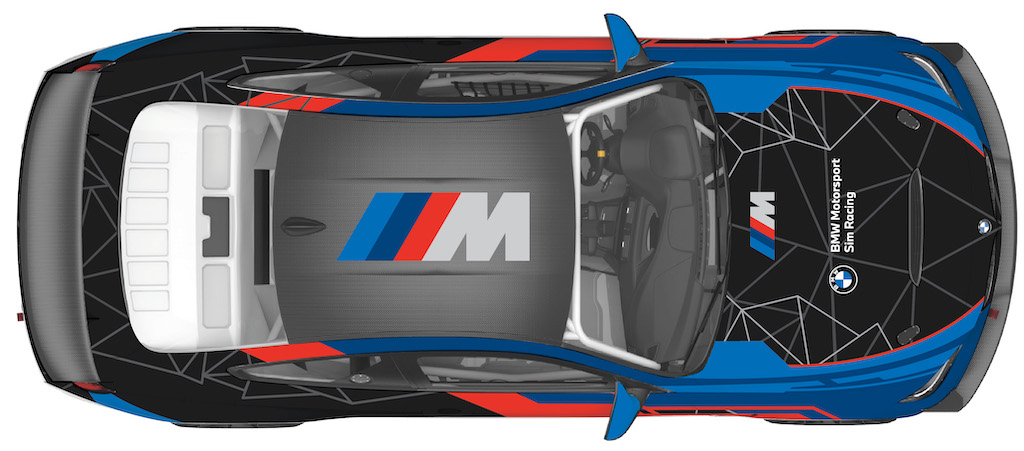 BMW M4 GT4 Top View