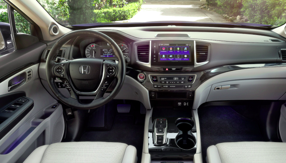The Ridgeline interior.