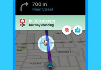 WAZE shows railroad crossings.
